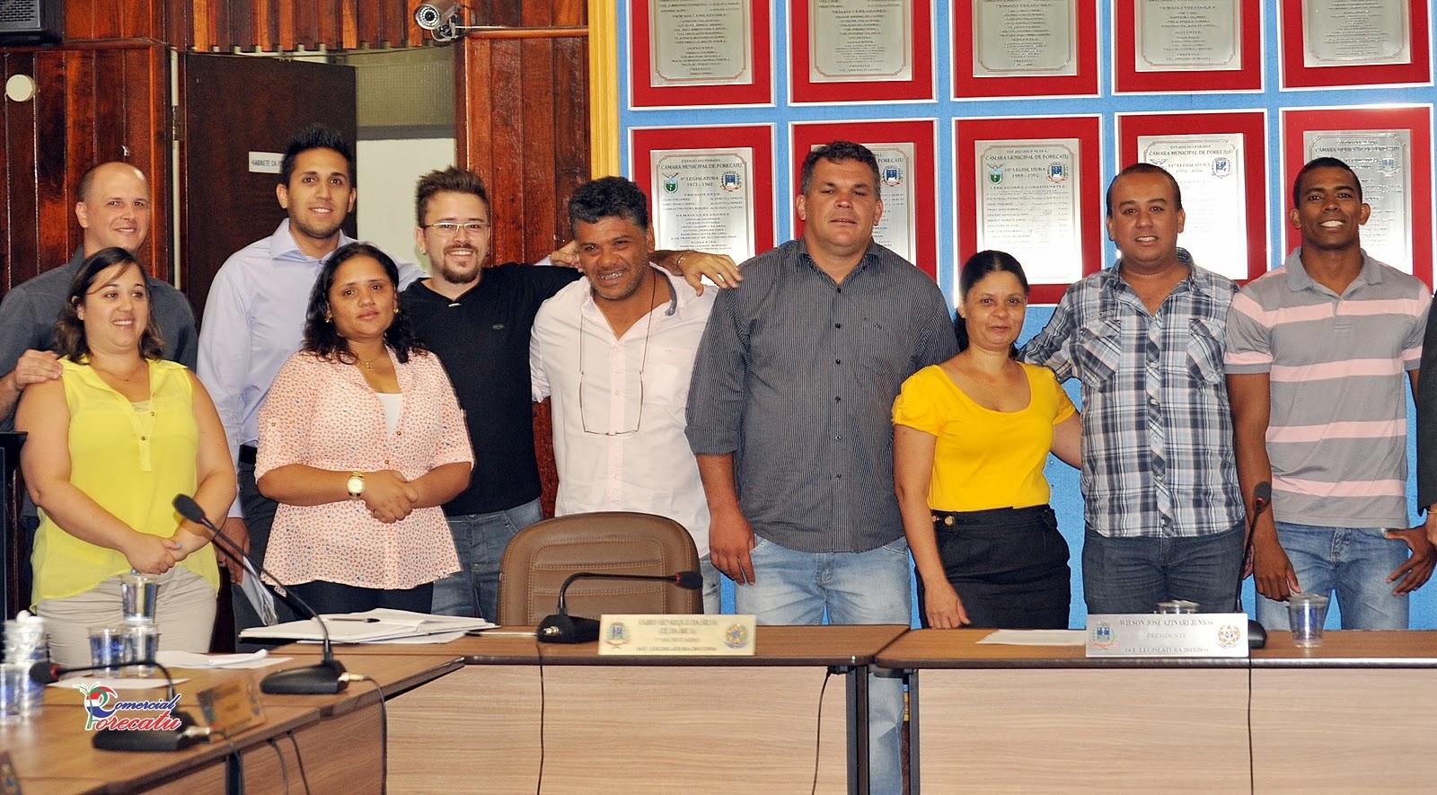 COMERCIAL PORECATU: Posse do Vereador Marcelo Coelho da Silva  Partido  #BC930F 1600 885