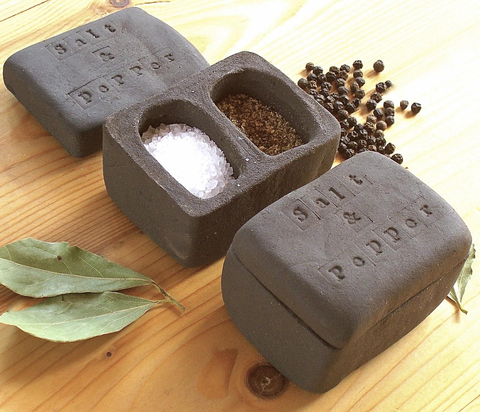 little brick house clayworks new black clay salt pepper pot. Black Bedroom Furniture Sets. Home Design Ideas