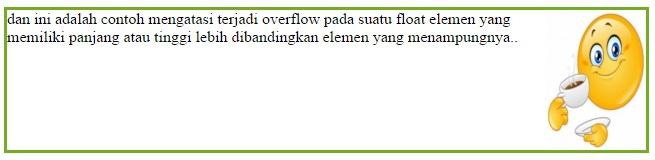clearfix overflow element