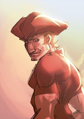 thotony totony pirate corsaire speed painting EMCA