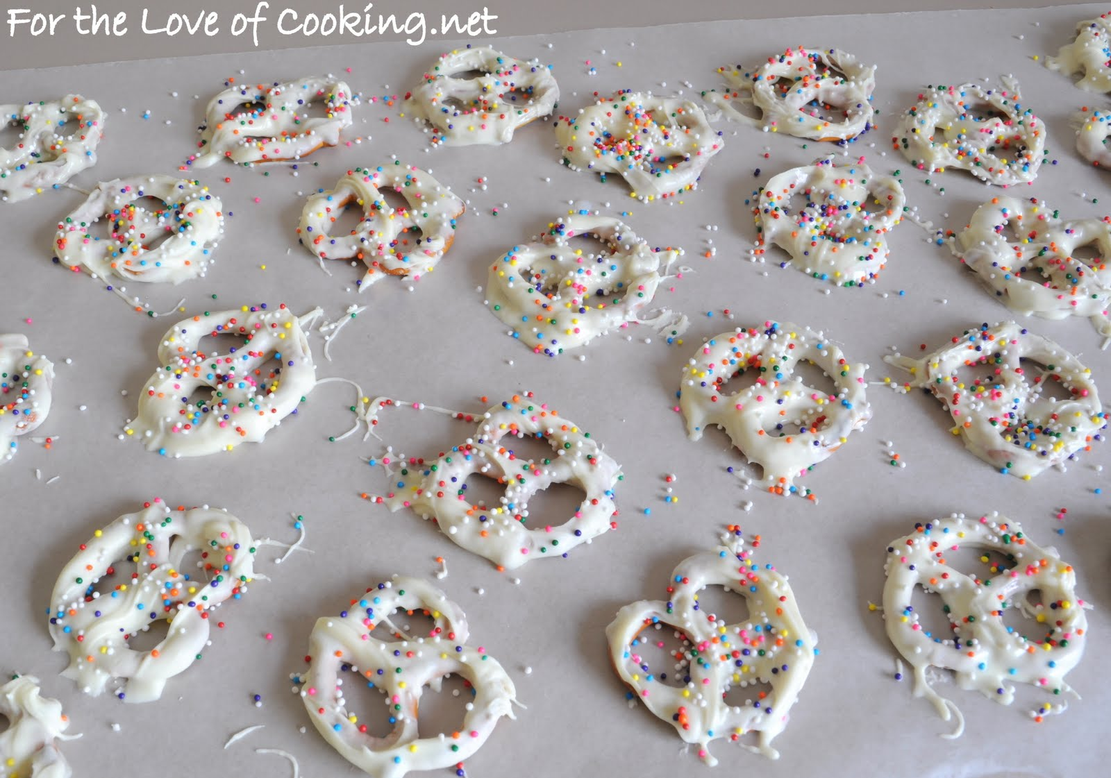 White Chocolate Dipped Pretzels | For the Love of Cooking
