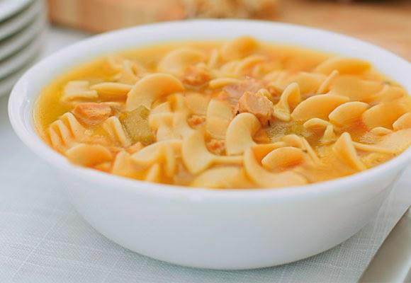 Sopa de milho com frango light