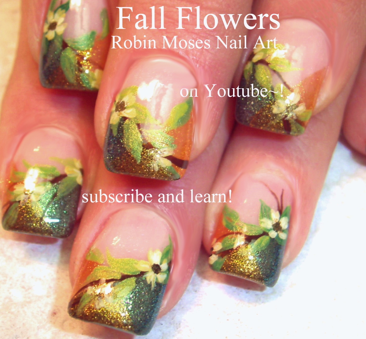 thanksgiving nail designs step by step