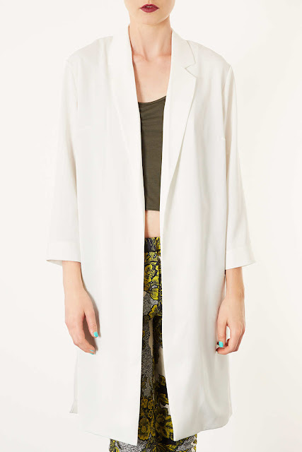 satin white coat