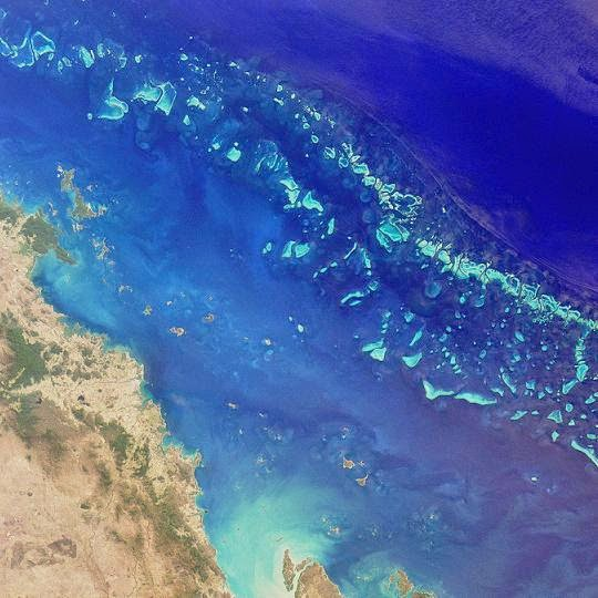 Great Barrier Reef von oben