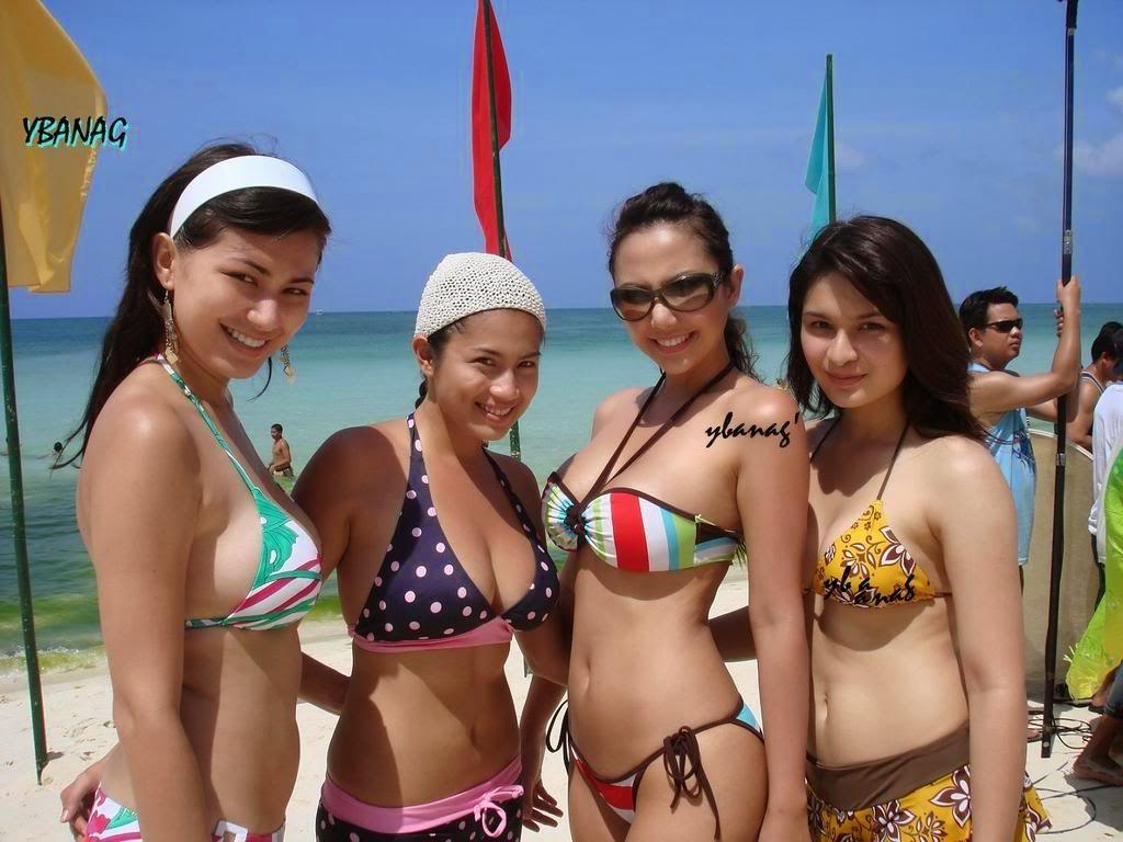 diana zubiri, pauleen luna, francine prieto maureen larrazabal bikini pics