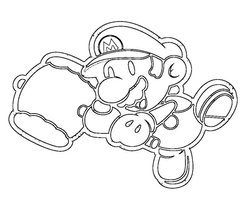 #12 Super Mario Coloring Page