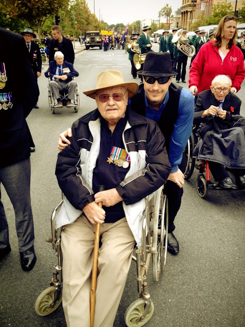 Steven and Raymond Middleton Anzac day 2013