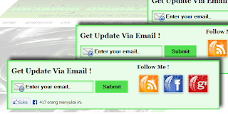 Widget Form Email Subscribe Blogger