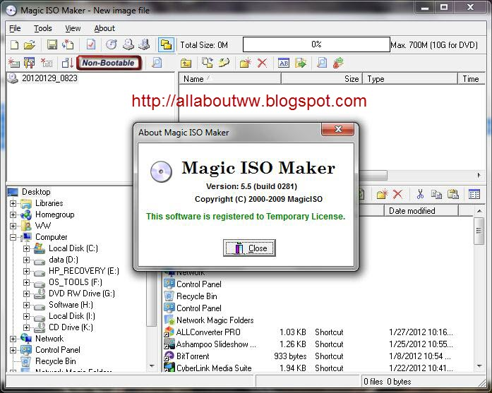 Magic iso maker 5 5 build 0276 by mr holland