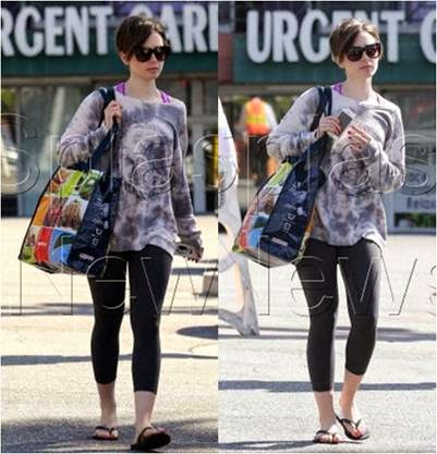 Lily Collins Wearing Greatful Dead Sweatshirt