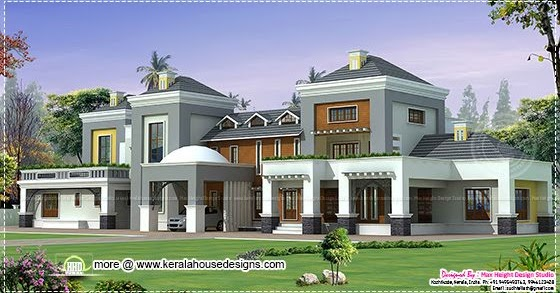 Small house design contemporary style keralahousedesigns for 8000 square foot building