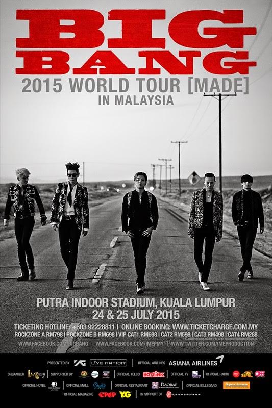 BIGBANG, 2015, MADE, KONSERT, MALAYSIA, STADIUM PUTRA
