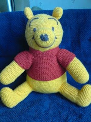 Virka Nalle puh,crochet winnie the pooh