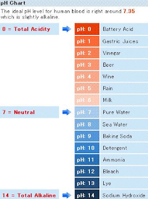 Body pH Energy Levels chart