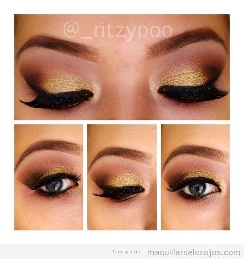 Como estar ala moda - Como pintarse los ojos de negro ...