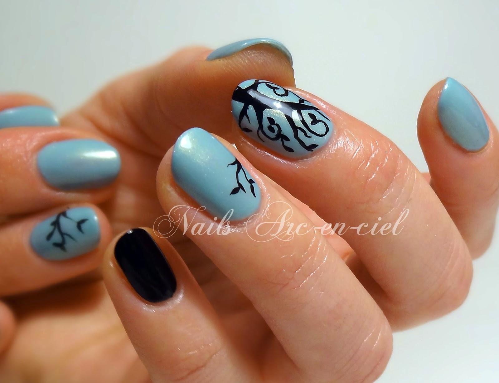 nail art arbre de détail