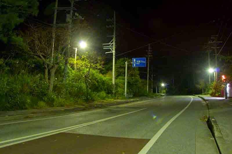 HWY 71, Matsuda, Ginoza, Okinawa, night