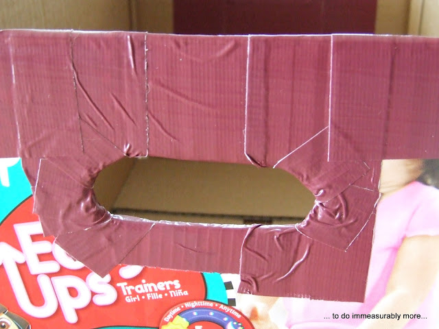 Duck Taped Diaper Box Handle