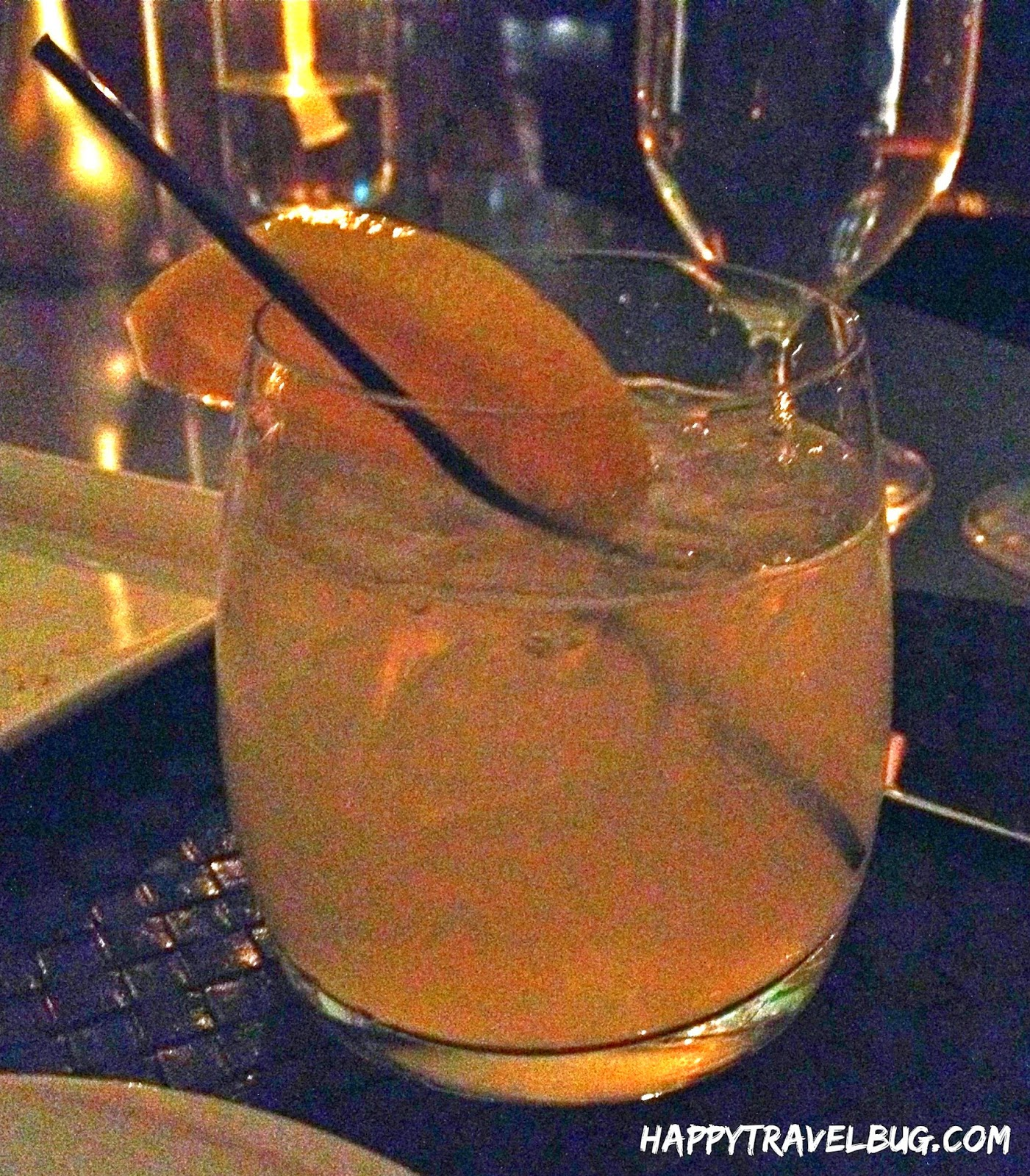 My cocktail at Aureole Restaurant in Las Vegas
