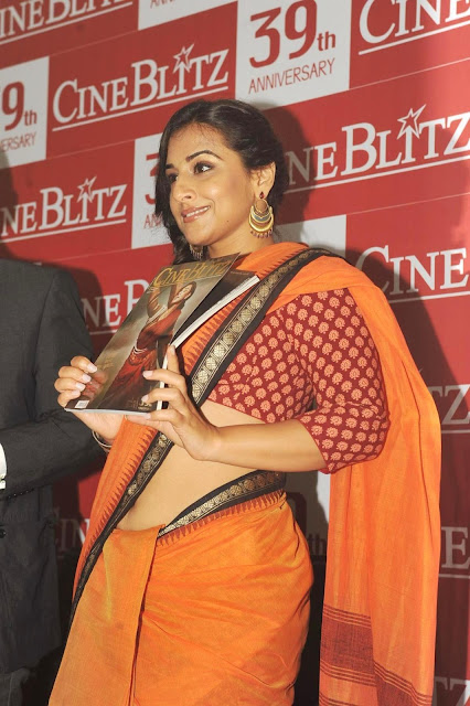 Actress Vidya Balan Saree Below Navel Show Photos
