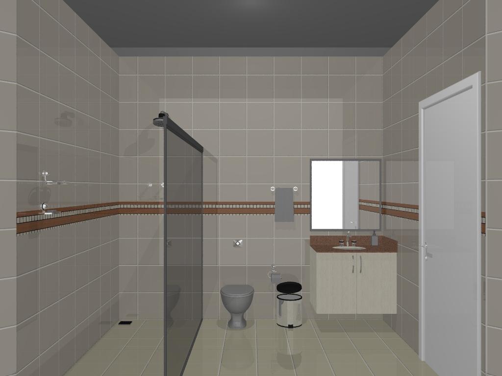 Projeto Banheiro 1 ~ Móveis Planejados #5F493C 1024 768