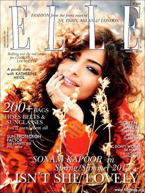 Sonam Kapoor Elle Magazine cover - Sonam Kapoor Elle Magazine 2012 HQ Pics