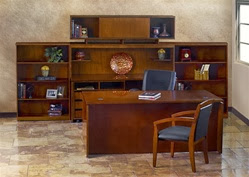 Mayline Stella Veneer Office Furniture Set with Storage