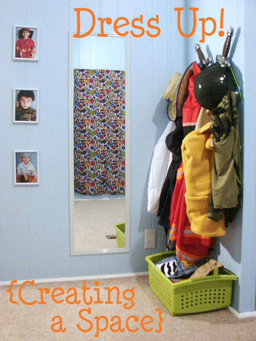 how to organize your child's dress up clothes