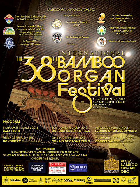 38th International Bamboo Organ Festival Shedule of Events