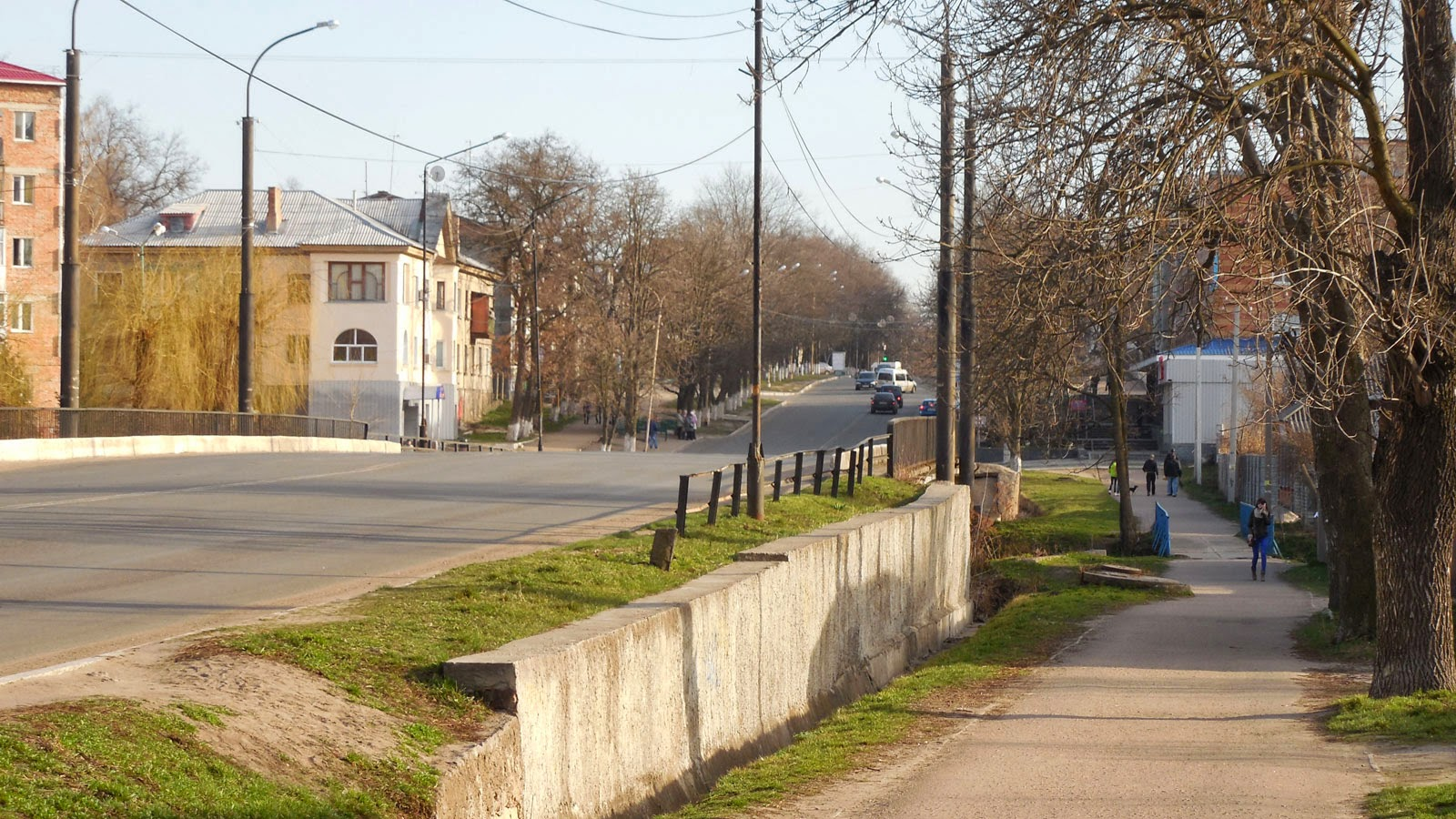 Ukrainian country town sidewalks