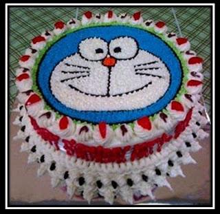 Cara Menghias Kue Ulang Tahun Doraemon