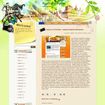 Spain Bullfights Blogger Template. free download template blogspot
