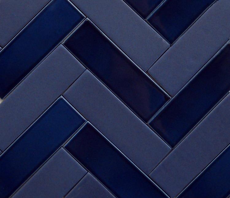 Pratt and Larson Tile: Indigo, Navy, Midnight. Blue by any other name.