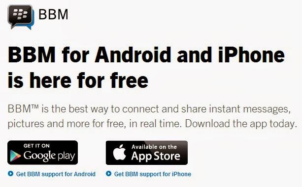 Perbedaan Antara BBM Versi Android dan iOS dengan BB Device