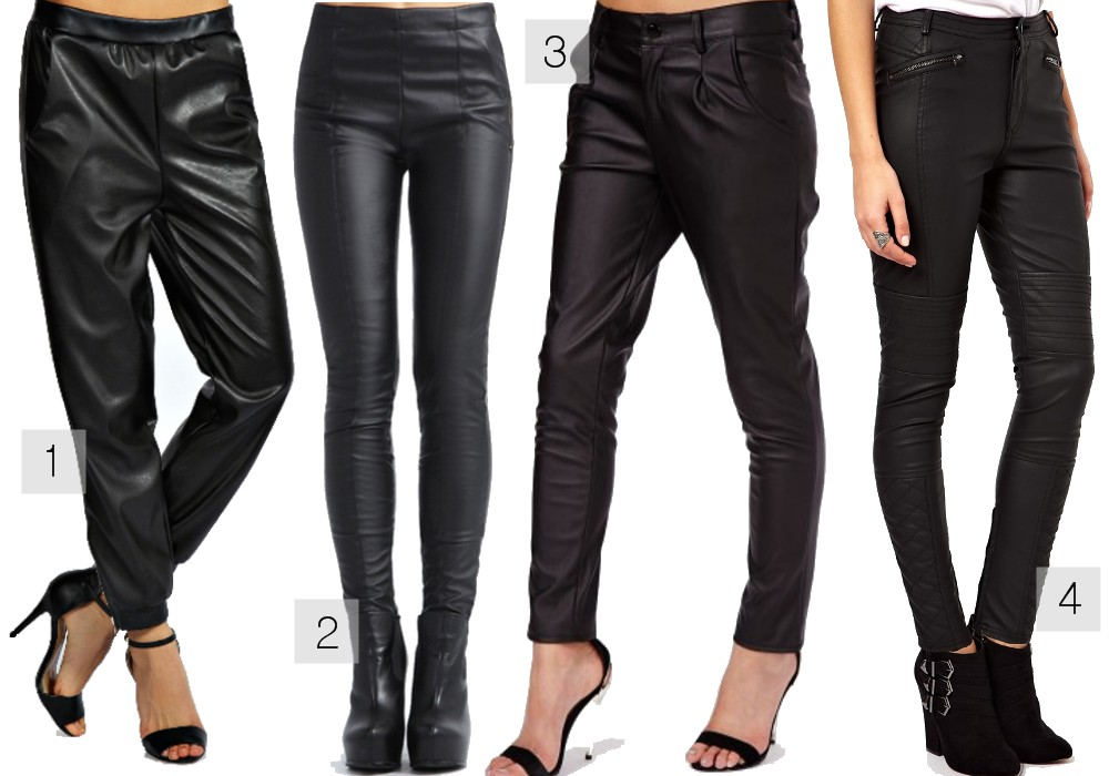 How To Wear The Leather Trousers Trend