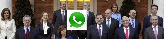 El grupo de WhatsApp del Consejo de Ministros