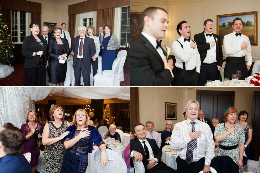 wedding guests singing photo