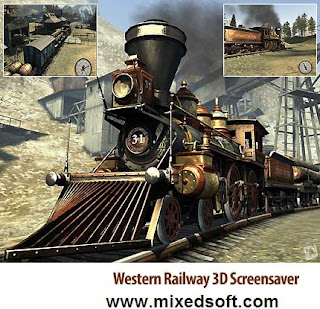 Free Western Railway 3D Screensaver v 2.0.0.3 Full