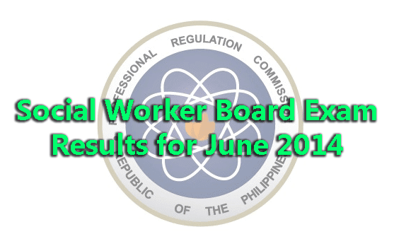 Social Worker Board Exam Results for June 2014