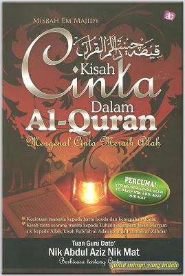 Kisah Cinta Dalam Al-Quran  oleh Misbah Em Majidy  Harga: RM23.00/RM26.00  ISBN: 978-967-5249-00-6  Tarikh Terbit: November 2008  Jumlah Muka Surat: 238