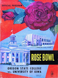 Cover of official program for Oregon State vs. Iowa 1967 Rose Bowl football game