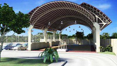 Bayswater Subdivision Mactan Cebu House and Lot For Sale - Covered Basketball Court Amenities