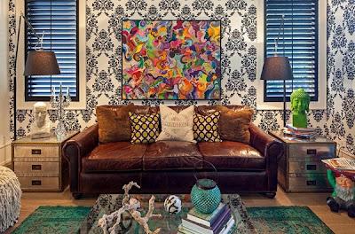 Gambar Wallpaper Dinding Klasik Ruang Tamu Minimalis Modern