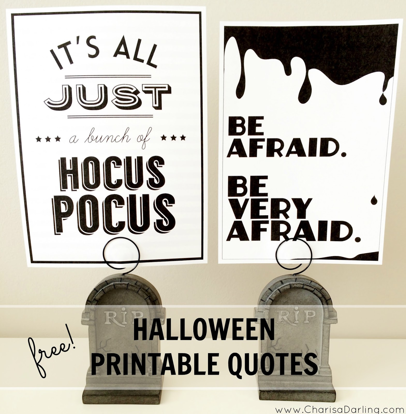 free halloween printable quotes | charisa darling
