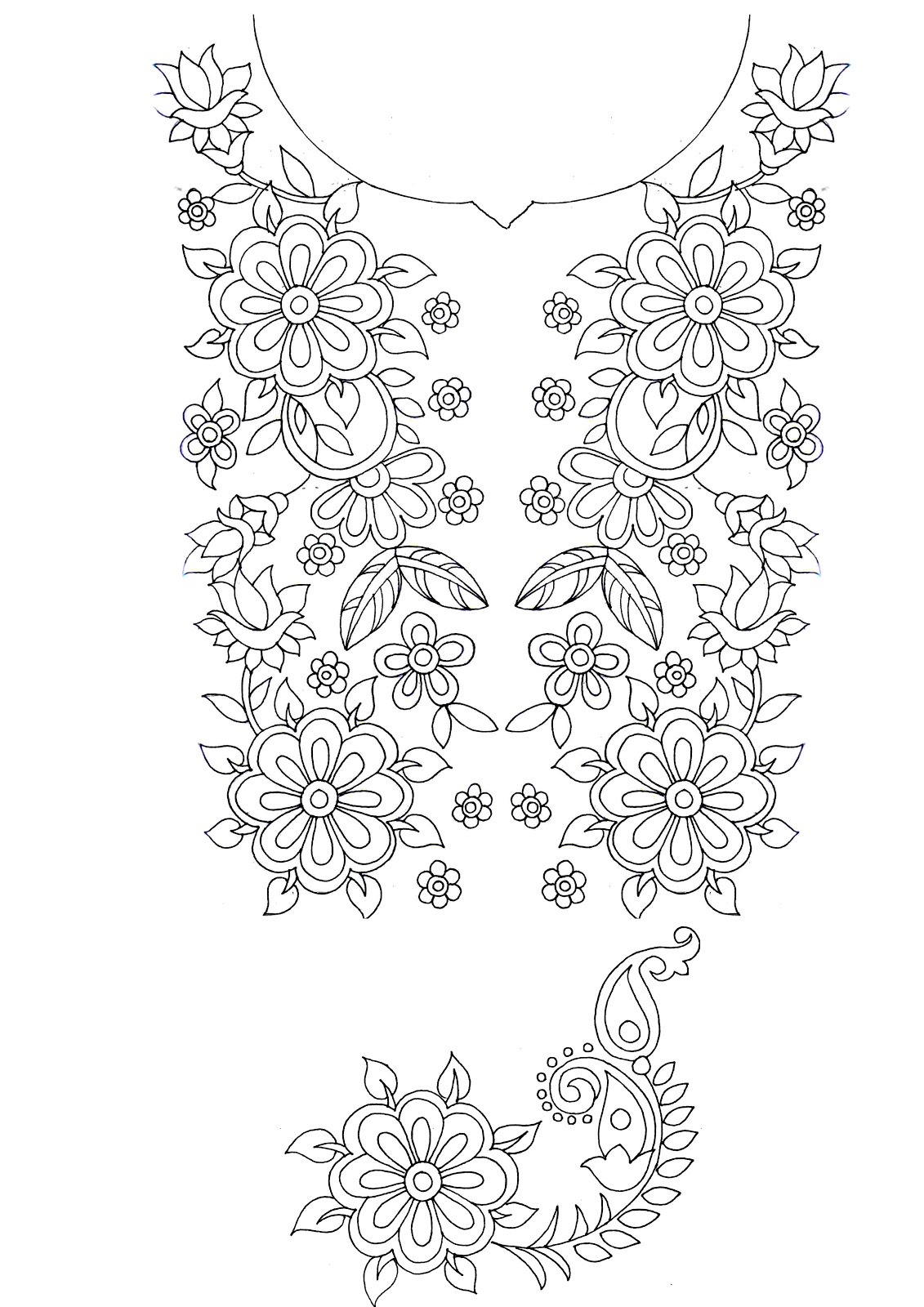 Embdesigntube embroidery sketches shared by sarika agrawaal