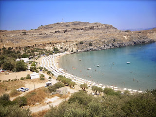 The Beach at Lindos, Rhodes
