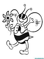Anak Lebah Jantan Membawakan Bunga Untuk Ibunya