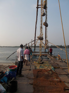 Chinese Fishing nets.The tourist symbol of Kochi.