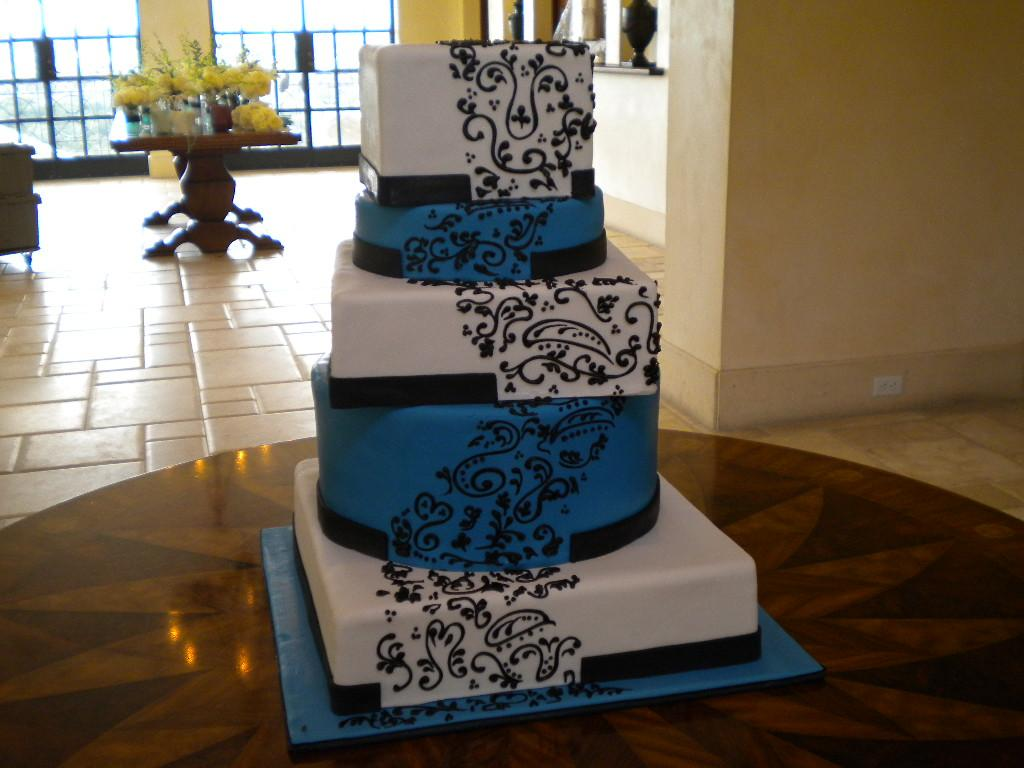 Royal Blue Yellow Cake Ideas and Designs